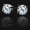 Antwerp Diamonds 14K White Gold 0.10 ctw Royal Stud Earrings