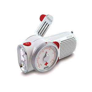 ETON® Rover Self-Powered AM/FM Weather Radio and Flashlight