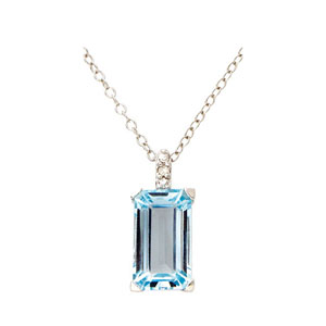 Jilco Diamond & Blue Topaz Pendant