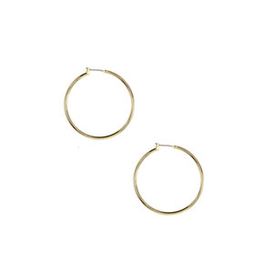 ANNE KLEIN Gold-Tone Large Hoop Earrings