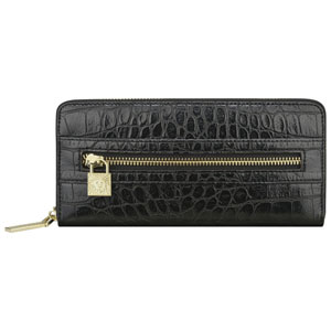 ANNE KLEIN Alligator Alley Zip Around Wallet
