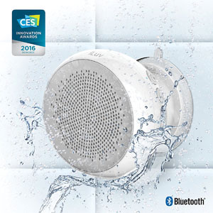 iLuv® Aud Shower Water-Resistant Bluetooth Speaker
