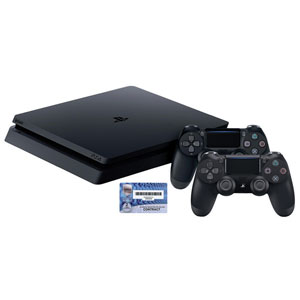 PS4™ Slim 1TB Console w/2 DUALSHOCK 4 Wireless Controllers & Headset