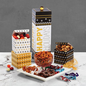 Broadway Basketeers Happy Holidays Gourmet Gift Box Set