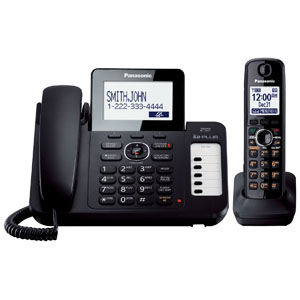 Panasonic® Digital Answering System w/1 Corded and 1 Cordless Handset