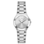 MOVADO Ladies' Stainless Steel Case Watch Silver Dial