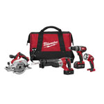 Milwaukee® M18 Cordless 4-Tool Combo Kit