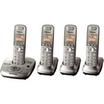 Panasonic® DECT 6.0 Cordless w/Eco Mode, 4 Handsets