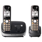 Panasonic® DECT 6.0 Cordless w/Eco Mode, 2 Handsets