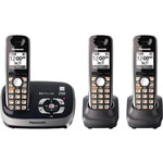 Panasonic® DECT 6.0 Cordless w/Eco Mode, 3 Handsets