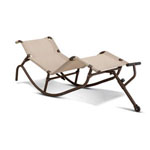 easy outdoor Gravity Rocking Chaise Lounge