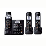 Panasonic® DECT 6.0 w/Answerer, 3 Handsets
