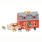 Melissa & Doug® Fold & Go Barn w/7 Farm Animals