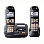Panasonic® DECT 6.0 Cordless Phone w/Answerer, 2 Handsets