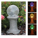 smart SOLAR® Solar Chameleon Crackled Glass Gazing Ball