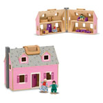 Melissa & Doug® Fold & Go Mini Dollhouse
