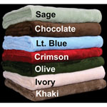 ELH® All Seasons Plush Solid Blankets