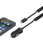 iLuv® Micro-Size Car Charger w/Lightning Connector