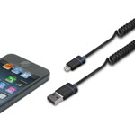 iLuv® Premium Coiled Charge & Sync w/Lightning Connector