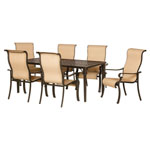 HANOVER™ OUTDOOR Brigantine 7 pc. Outdoor Dining Set w/Sling-Style Chairs