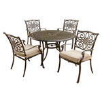 HANOVER™ OUTDOOR Traditions 5 pc. Outdoor Dining Set w/48