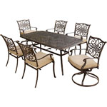 HANOVER™ OUTDOOR Traditions 7 pc. Outdoor Dining Set w/2 Swivel Chairs