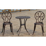 PatioSense® 3 pc. Aluminum Bistro Set w/Antique Bronze Finish