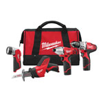Milwaukee® M12 Cordless Li-Ion 4 Tool Combo Kit