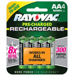 RAYOVAC® Rechargeable AA NiMH Batteries - 4 Pack