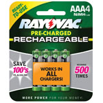 RAYOVAC® Rechargeable AAA NiMH Batteries - 4 Pack