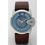 DIESEL® Men's Master Chief Watch w/Brown Leather Strap