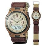 CASIO® Brown Casual Sports Watch w/Cloth Band