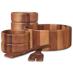 Gibson ® 7 pc. Royal Acacia Natural Wood Salad Set