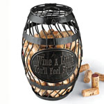 Wine Enthusiast® Wine Barrel Cork Catcher