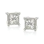 Antwerp Silver Royal Princess CZ Earrings  - 2.00 ctw