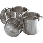 All-Clad 12 qt. Stainless Multi Cooker w/Steamer Basket