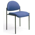 BOSS Office Products® Stacking Chair w/Tubular Steel Frame