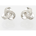 Jilco Love Knot Diamond Earrings