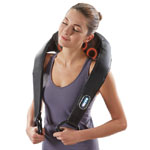 Brookstone® Cordless Shiatsu Neck & Back Massager w/Heat