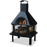 Mr. Bar-B-Q® Endless Summer Outdoor Wood Burning Fireplace w/Chimney