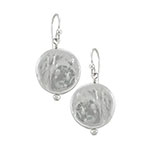 Antwerp Silver Mother Of Pearl Coin Earrings