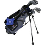 U.S. Kids Golf UL45 4-Club Set w/Gray/Blue Stand Bag