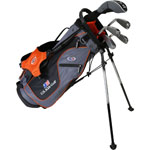 U.S. Kids Golf UL51 5-Club Set w/Gray/Orange Stand Bag