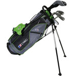 U.S. Kids Golf UL57 5-Club Set w/Gray/Green Stand Bag