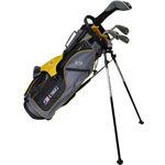 U.S. Kids Golf UL63 5-Club Set w/Gray/Gold Stand Bag