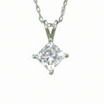 Antwerp Silver Princess Cut Cubic Zirconia Dream Necklace