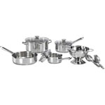T-FaL® WearEver Cook & Strain 10 pc. Stainless Steel Cookware Set
