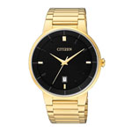 Citizen Men's Gold-Tone Watch w/Black Dial