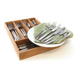 ONEIDA® Mooncrest 45 pc. Casual Flatware Set w/Bamboo Caddy