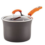 RACHAEL RAY® Hard Anodized 3 qt. Covered Saucepan